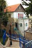 Piękny wygodny podwórze w Safed zdjęcia stock