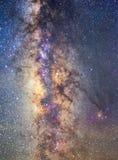 Piękny wyraźnie milky sposób na nocnym niebie zakłada w Tajlandia obrazy stock