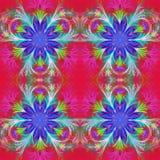 Piękny wzór w fractal projekcie Kolekcja - mroźny wzór royalty ilustracja