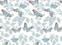 Piękny wzór z latającymi motylami Fotografia Stock