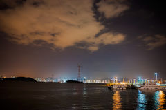 Piękny Xiamen miasto przy nocą Fotografia Royalty Free
