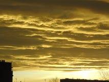 Piękny złocisty zmierzch Fotografia Stock