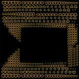 Piękny złoty abstrakcjonistyczny elita tło Obraz Stock