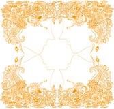 Piękny Złoty Włosiany ręka rysunek royalty ilustracja