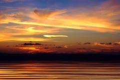 piękny zachód słońca Obraz Royalty Free