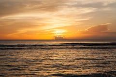 piękny zachód słońca Zdjęcia Royalty Free