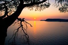 piękny zachód słońca Zdjęcie Royalty Free