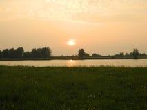 piękny zachód słońca zdjęcie stock