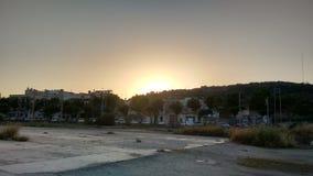 piękny zachód słońca obrazy royalty free