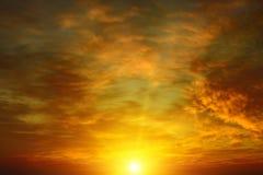 piękny zachód słońca bright Zdjęcia Stock