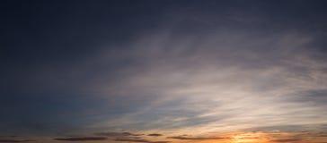 piękny zachód słońca chmury obraz royalty free