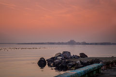 piękny zachód słońca morza Zdjęcie Stock