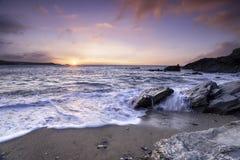 piękny zachód słońca oceanu zdjęcia stock