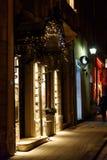 Piękny zadziwia dekorujący centrum miasta dla boże narodzenie wakacji ja Fotografia Stock