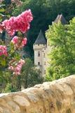 piękny zamek francuski był zachód słońca zdjęcie royalty free