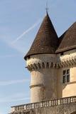 piękny zamek francuski był zachód słońca obraz royalty free