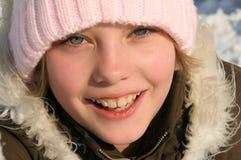 piękny zamkniętej dziewczyny portret w górę potomstw Zdjęcia Stock