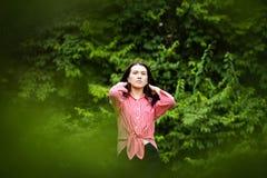 piękny zamkniętej dziewczyny portret zamknięty obrazy stock