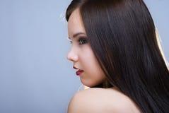 piękny zamkniętej dziewczyny portret zamknięty Obraz Royalty Free