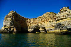 Piękny zawala się w Algarve, Portugalia Fotografia Stock