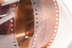 Piękny zbliżenie analog fotografii film na białym tle obraz royalty free