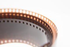 Piękny zbliżenie analog fotografii film na białym tle zdjęcia stock