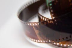 Piękny zbliżenie analog fotografii film na białym tle obrazy stock