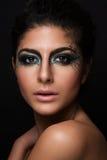 Piękny zbliżenie portret młody caucasian fema Obrazy Royalty Free