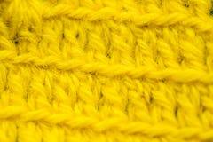 Piękny zbliżenie ręcznie robiony szydełkuje wzór kolorowa wełny przędza Miękka część i ciepła naturalna barania wełna Obraz Royalty Free