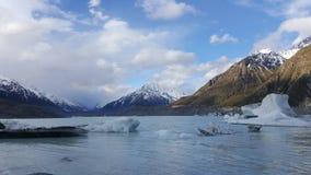 Piękny zima krajobraz w Nowa Zelandia zdjęcie stock