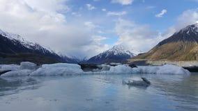 Piękny zima krajobraz w zimie Nowa Zelandia zdjęcia stock