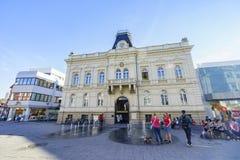Piękny Zmienia Rathausplatz Iserlohn śródmieście Zdjęcia Royalty Free