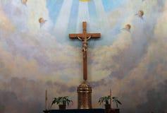 Piękny zmienia wśrodku niepokalanego poczęcia kościół, Stary Grodzki San Diego, Kalifornia, 2016 Fotografia Stock