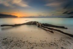 Piękny zmierzch i wschód słońca Zdjęcie Stock