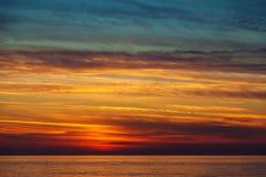 Piękny zmierzch na morzu śródziemnomorskim Zdjęcie Royalty Free