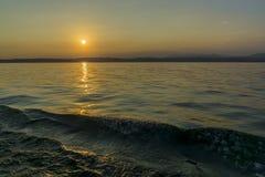 Piękny zmierzch nad jeziornym gardą 1 Zdjęcie Royalty Free