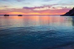 Piękny zmierzch nad morzem Fotografia Royalty Free