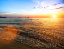Piękny zmierzch nad oceanem, natura skład Natura obrazy royalty free
