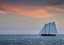 Piękny zmierzch nad oceanem Nawadnia Key West Floryda Fotografia Stock