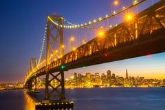 Piękny zmierzch przy San Fransisco zatoką Obrazy Royalty Free