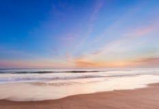 Piękny zmierzch w południowego California plaży Obraz Royalty Free
