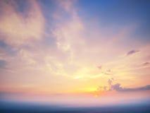 Piękny zmierzchu światła tło Zdjęcia Royalty Free