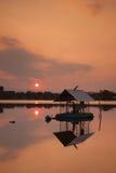 Piękny zmierzchu światło na jeziorze Obrazy Royalty Free