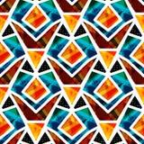 Pięknych barwionych wieloboków bezszwowa deseniowa wektorowa ilustracja ilustracji