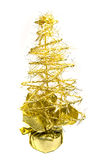 pięknych bożych narodzeń złoty odosobniony drzewny biel Fotografia Royalty Free