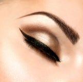 Retro Stylowy makijaż Obrazy Stock