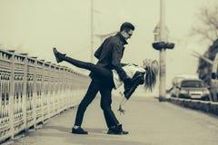 pięknych par młodych Fotografia Stock