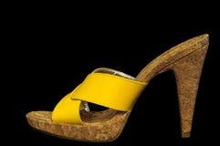 piętowy wysoki kolor żółty Zdjęcia Stock