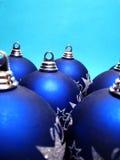 piłek błękit boże narodzenia obraz stock