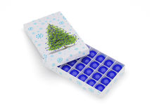 piłek błękitny pudełka ornamental Obrazy Stock